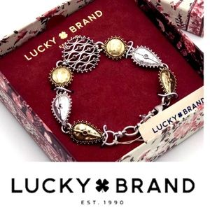 🍀Lucky Brand Two-Tone Openwork Pave Bracelet